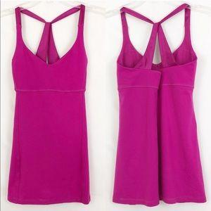 Lululemon Hot Pink Cross Back Workout Tank Size 4